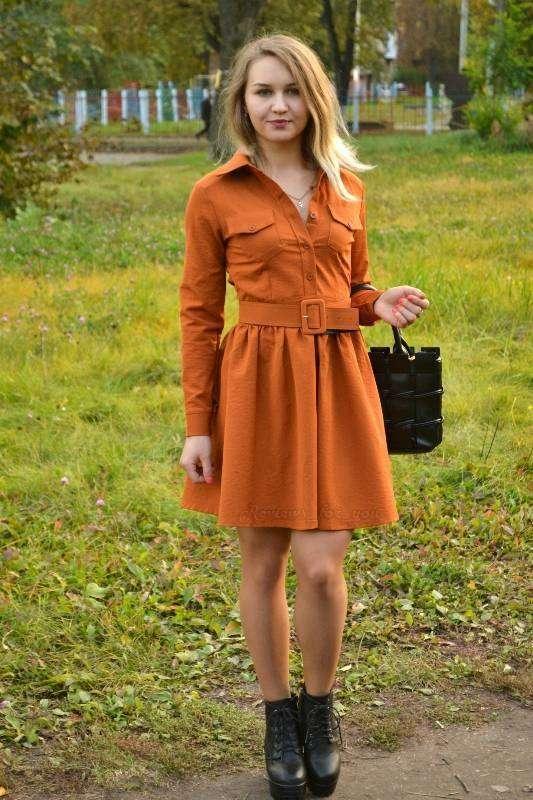Aliexpress: Осеннее платье с рукавами, 'добавим красок в осень'