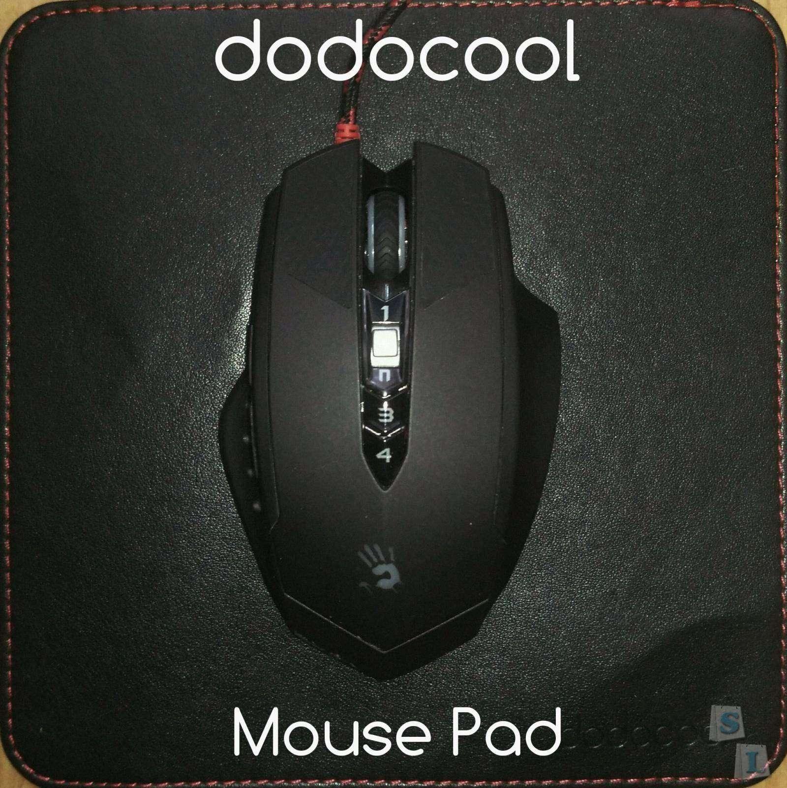 TomTop: DodocoolMousePad. Коврик для мыши, изкожзама.