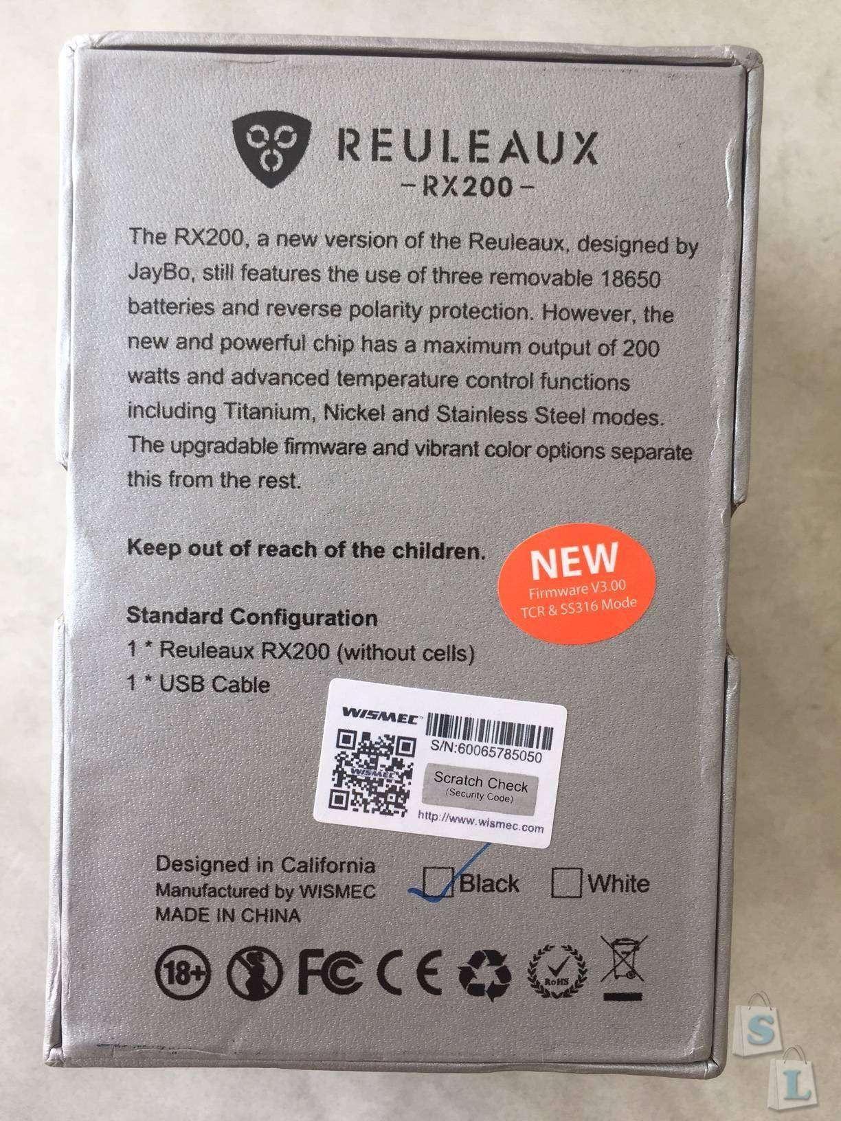 GearBest: Боксмод WISMEC Reuleaux RX200 TC 200W -  монстр за копейки.