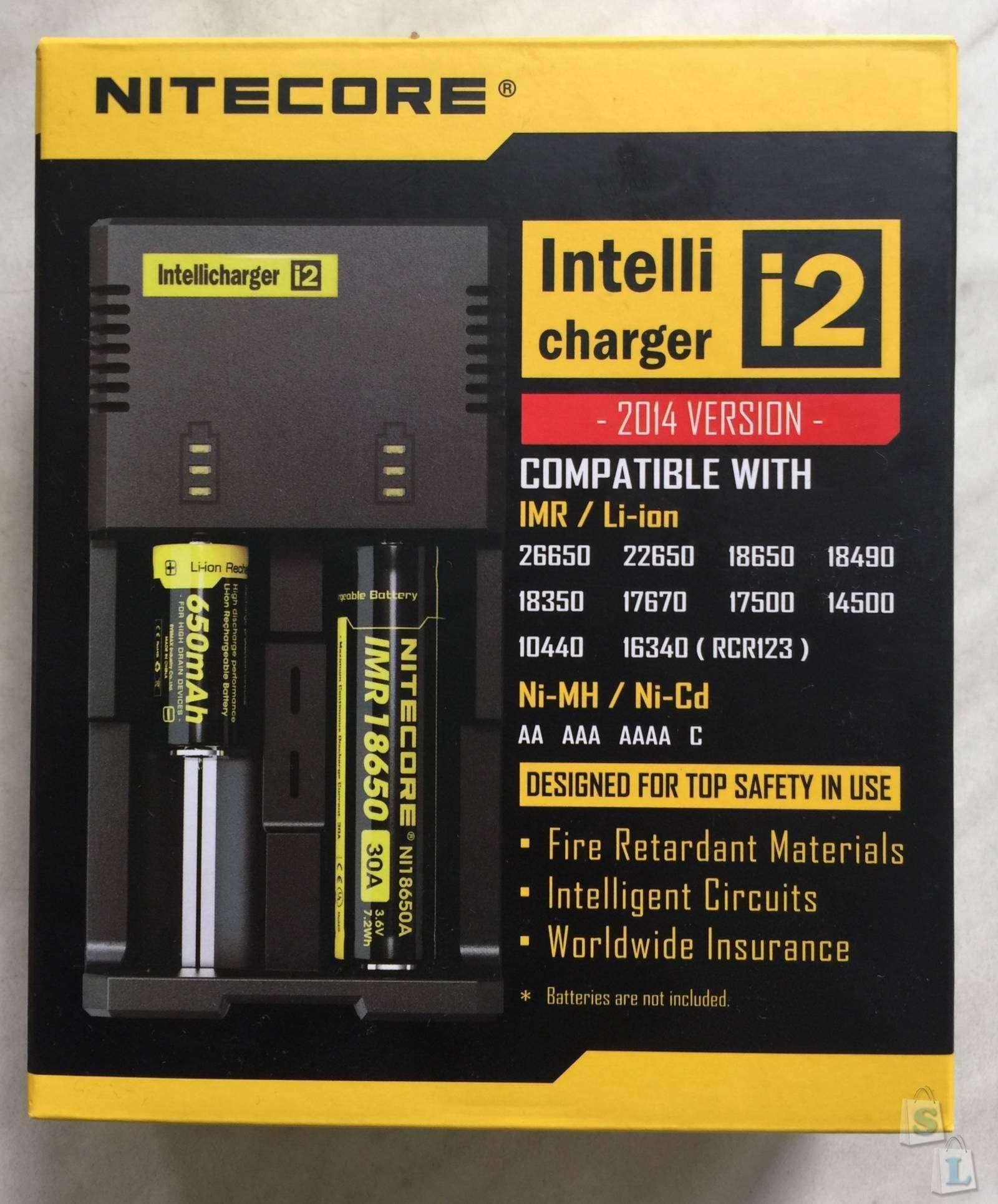 GearBest: Зарядное устройство для аккумуляторов Nitecore i2