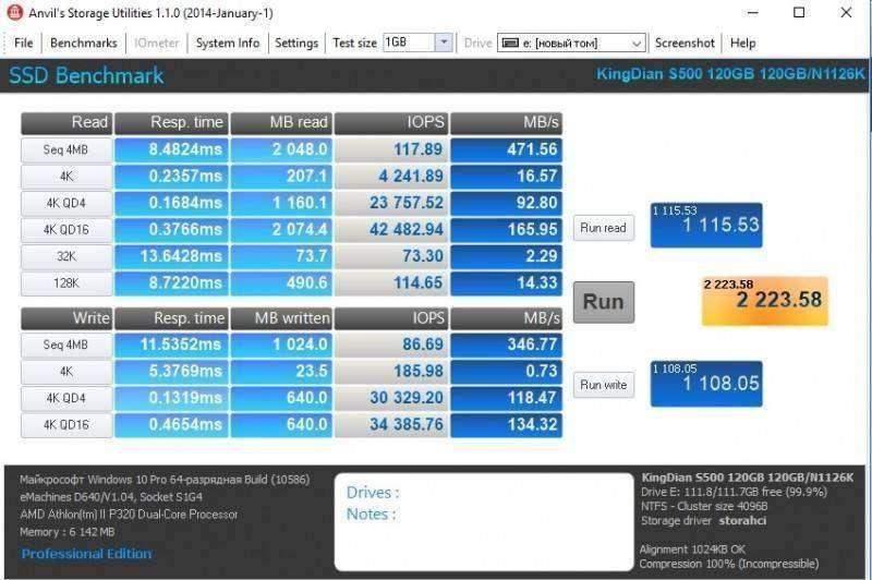 GearBest: SSD KingDian S500 120GB + установка через адаптер ODD to SSD