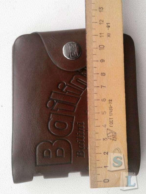 Aliexpress: Кожаный мужской бумажник (кошелек - двойная книжка с молнией) - год использования