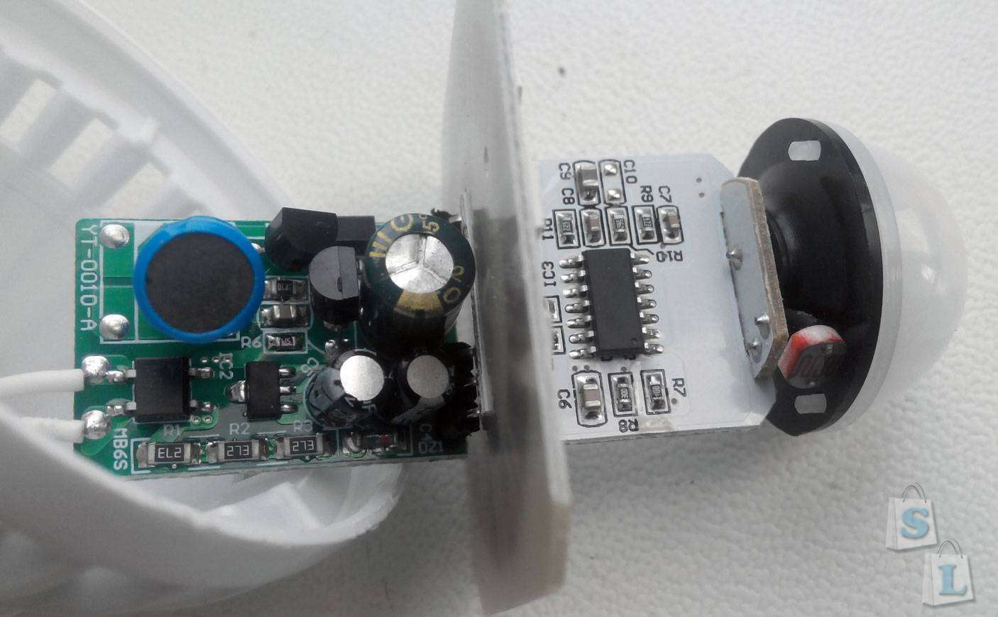 Aliexpress: Очень недорогая, но вполне качественная LED лампа с датчиком движения и освещения (220v e27)