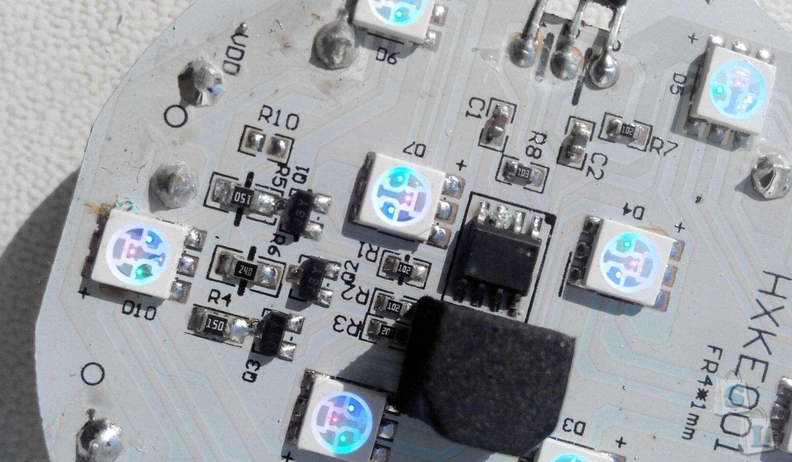 Banggood: Водонепроницаемый фонарь подсветки на 10 LED rgb с дистанционным управлением
