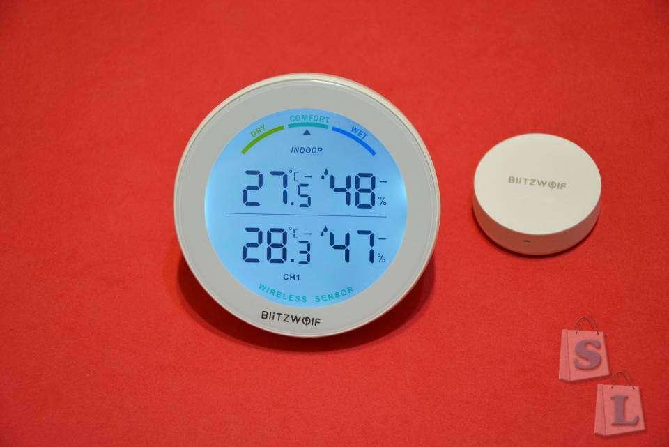Banggood: Бытовой термометр-гигрометр BlitzWolf BW-WS01 с беспроводным датчиком