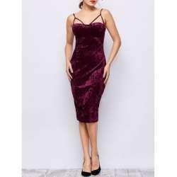 Обзор бархатного платья цвета спелая вишня