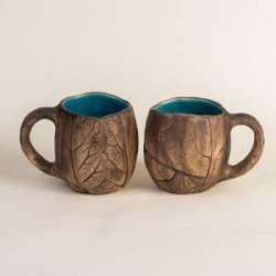Чашка 'Флора' кракле от 'TapLap Ceramics' ('Покутська керамика')