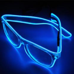 Очки с неоновой подсветкой для тусэвщиц и тусэвщиков ))
