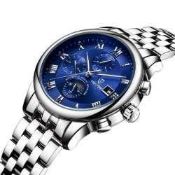Tevise 9008G. Механические часы с автоподзаводом и стальным литым браслетом