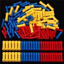 Еще наборы обжимных наконечников и изолированных гильз для соединения проводов.