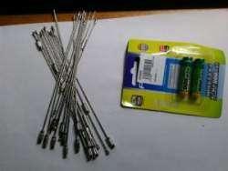 Полезные мелочи - батарейки PISEN 900mAh ААА и брелки-проволока