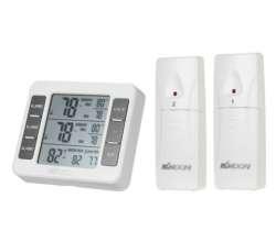 Бытовой термометр KKmoon 3 в 1 (два выносных датчика!)