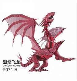 'Пламя Дракона', металлический 3D пазл в виде Красного Дракона