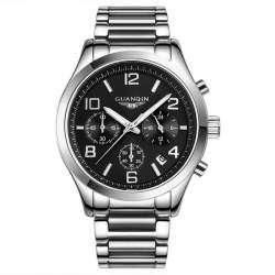 Качественные часы GUANQIN GS18001. Сталь и сапфир