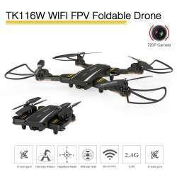 TKKJ TK116W VITALITY складной  квадрокоптер с 720P Wifi FPV камерой.