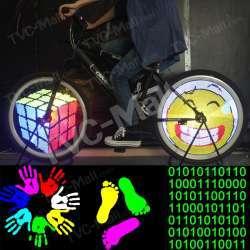 Программируемая подсветка для колёс велосипеда YQ8003 128 RBG LED