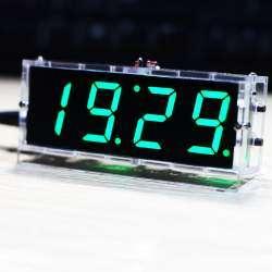 Часы-конструктор для сборки в прозрачном корпусе.