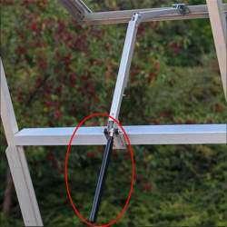 Гидравлический цилиндр для автоматического проветривания теплицы, веранды, гаража....