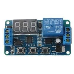 12V программируемый модуль задержек с наличием входа для управляющих импульсов