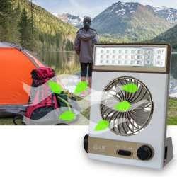 Гибрид фонаря - лампы и вентилятора или смесь бульдога с носорогом.