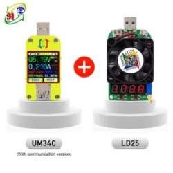 USB тестер RD UM34C (с блютузом!) и USB нагрузка RD LD25 25 Вт
