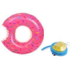 Обзор надувного круга в виде надкушенного пончика