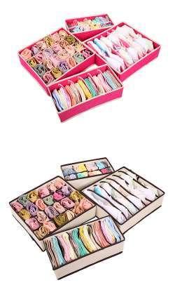 Тканевые коробки для белья