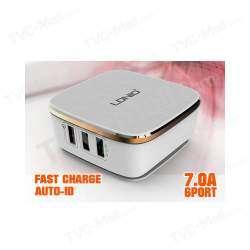 Зарядное устройство LDNIO A6704 на 6 USB портов с поддержкой Quick Charge 2.0