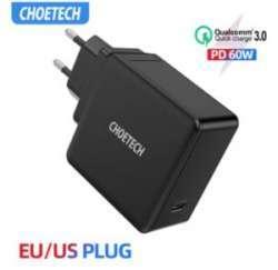 Сетевая зарядка CHOETECH PD 60W USB-C - одна на все девайсы