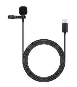 Микрофон 'петличка' с кабелем в 2 метра и под Type-C