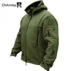 Флисовая куртка в милитари стиле