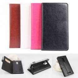 Черный чехол - бумажник из PU кожи для XIAOMI REDMI Note 3