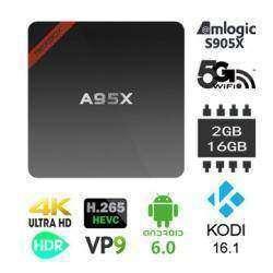 NEXBOX A95X - TV BOX с обучаемым пультом, Android 6, 2/16Гб, Root, поддержкой 4K и Kodi