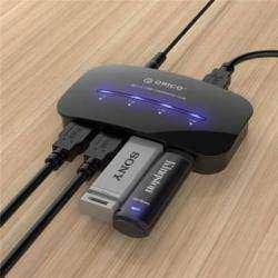 4-х портовый USB 3.0 Хаб ORICO DH4-U3 с функцией зарядного устройства
