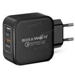 Обзор сетевой зарядки от 'быстроволка' QC3.0+2.4A 30W