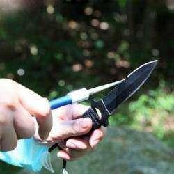 Алмазная карманная точилка для ножей. Для походов и рыбалки.