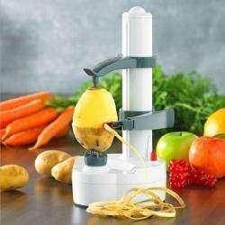Электроочиститель овощей и фруктов. Auto rotating electric  peeler.