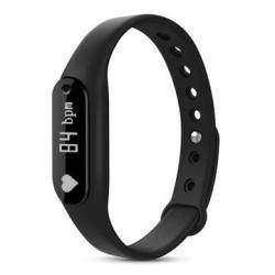Фитнес-браслет C6 с сенсорным OLED экраном, трекером сна и измерением пульса.
