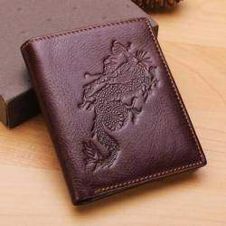 Dragon Design Genuine Leather Men's Wallet