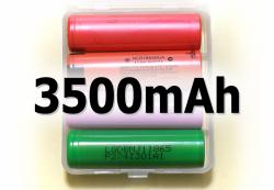 Весовая категория 3500мАч: четыре аккумулятора 18650