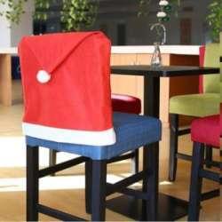 Новогодние накидки на спинки стульев - просто атмосферный декор