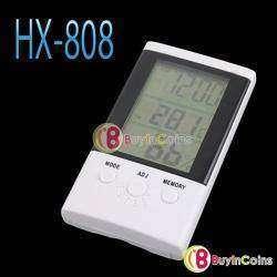 HX-808 Термометр, гигрометр, часы с будильником и памятью.