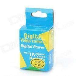 Запасной аккумулятор для зеркальных камер Сanon LP-E6, Digital Power, 1800 mAh