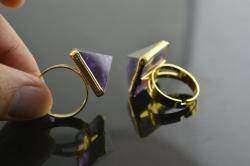 Обзор кольца с стиле стимпанк - черная пирамида