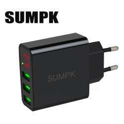 ЗУ с вольтамперметром и с тремя USB портами Sumpk - скидка в бакс на 2 шт