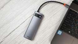 Концентратор Baseus 8-в-1 с поддержкой USB 3.0, HDMI, Dex, Ethernet и PD 100 Вт