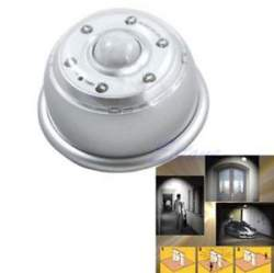 LED светильник со встроенным датчиком освещения и движения -  4 x ААА