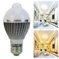 LED лампы со встроенным датчиком освещения и движения - 'готовые к употреблению'- 220v