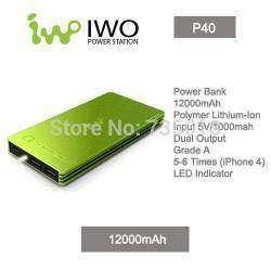 Внешний аккумулятор - PowerBank IWO P40 12000mAh