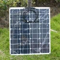 Обзор гибкой солнечной панели на 50вт или как я собирал солнечную 'электростанцию'